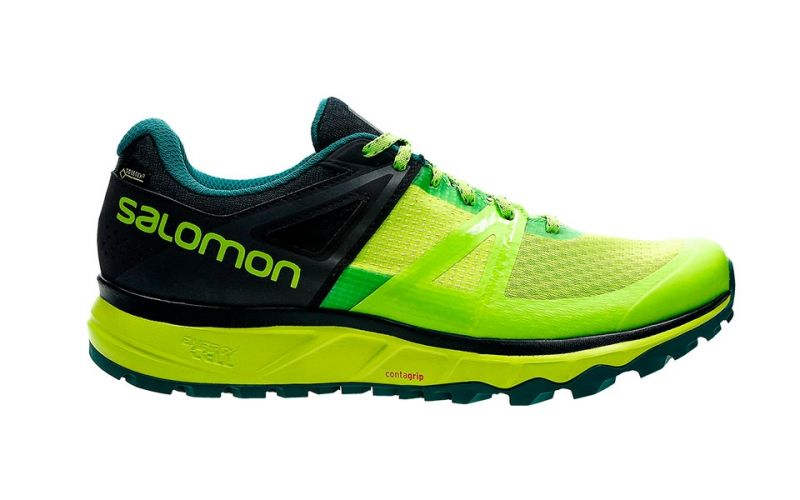 Salomon Trailster GTX Fluor Yellow Black Trail running shoes