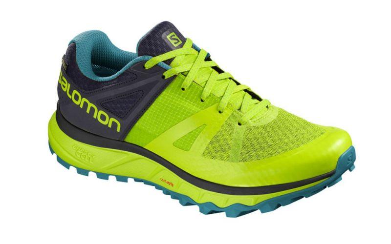 Salomon Trailster GTX Fluor Yellow Black Trail running shoes