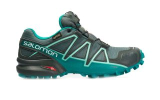 SALOMON SPEEDCROSS 4 GTX BLACK TURQUOISE WOMEN L40610900