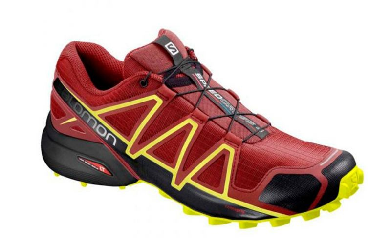 0e680109050de7 Salomon Speedcross 4 red black - Men trail running shoes