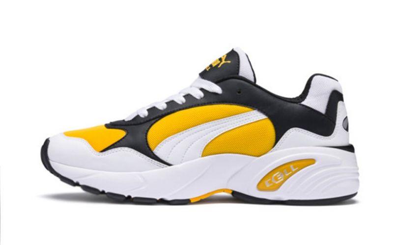 Puma Cell Viper Blanc Jaune Chaussures de course décontractées
