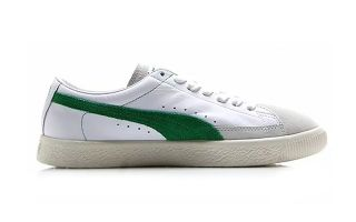 Puma BASKET 90680 WHITE GREEN 365944 06