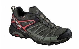 Salomon X ULTRA 3 PRIME GTX GRIS ROUGE L40741400