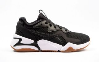 Puma NOVA 90S BLOC BLACK WHITE WOMEN 369486 01