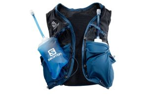 Salomon ADV SKIN 8 SET BLUE WOMEN BACKPACK