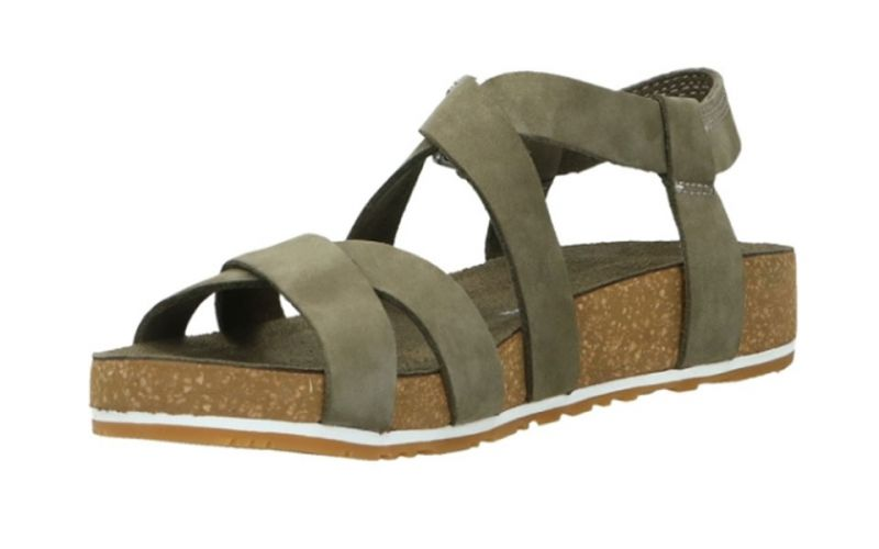 SANDALO MALIBU WAVES ANKLE VERDE DONNA