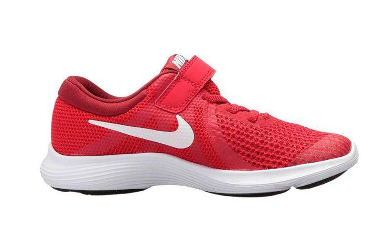 dbf5fa33239e2 Nike Revolution 4 rojo blanco niño - Amortiguación ligera