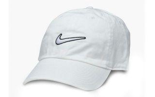 NIKE HERITAGE 86 ESSENTIAL SWOOSH WHITE CAP