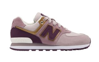 New Balance 574 GRADE CORDON LILA DORADO JUNIOR