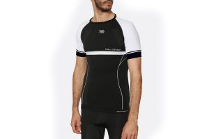 Sport HG ADESSO BLACK WHITE COMPRESSIVE SHIRT