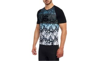 Sport HG SPIKE BLACK BLUE SHORT-SLEEVE SHIRT