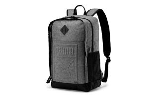 PUMA MOCHILA MEDIUM HEATHE GRIS