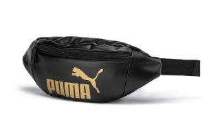 Puma RIÑONERA CORE UP NEGRO DORADO