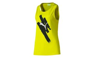 PUMA CAMISETA BE BOLD GRAPHIC TANK AMARILLO MUJER