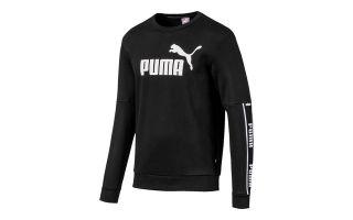 PUMA SWEATSHIRT AMPLIFIED CREW FL NOIR