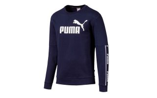 Puma SWEATSHIRT AMPLIFIED CREW BLEU MARINE