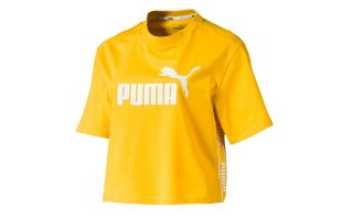 CAMISETA AMPLIFIED CROPPED MUJER AMARILLO