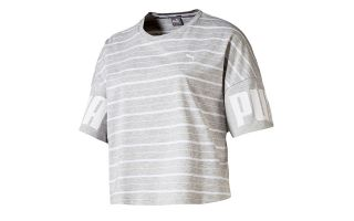 CAMISETA REBEL STRIPED GRIS CLARO