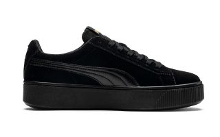 PUMA VIKKY STACKED SUEDE NEGRO MUJER 369144 01