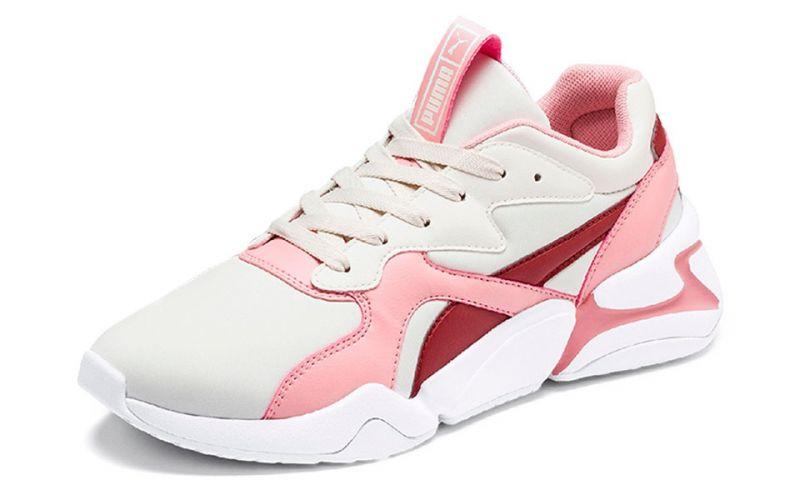 Puma Nova Blanc Rose Femme Confort et douceur