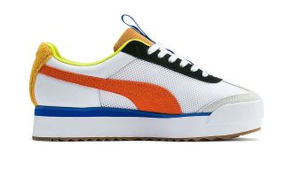 Puma ROMA AMOR SPORT WHITE ORANGE BLUE WOMEN 371070 01