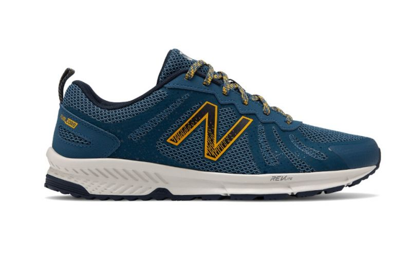 Demon Play Blanco regla  New Balance 590v4 Azul Amarillo - Zapatillas de trail para hombre