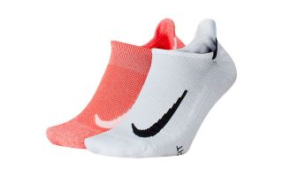 Nike CALCETIN MULTIPLIER NO SHOW 2 PARES BLANCO ROJO