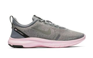 NIKE FLEX EXPERIENCE RN 8 GRIS ROSA MUJER