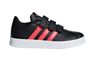 adidas VL COURT 2.0 CMF NEGRO ROJO JUNIOR