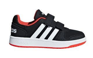 adidas VS HOOPS 2.0 NEGRO BLANCO JUNIOR B75960