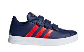 adidas VL COURT 2.0 CMF AZUL ROJO JUNIOR F36386