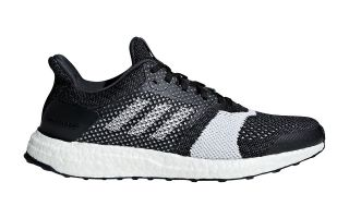<center><b>adidas</b><br > <em>ULTRABOOST ST BLACK WHITE B37694</em>