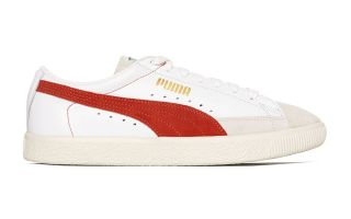 Puma BASKET 90680 BLANC ORANGE 365944 02
