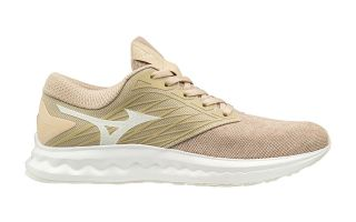Mizuno WAVE POLARIS BEIGE WOMEN J1GD1981 07