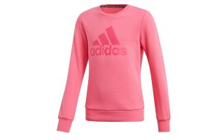 adidas MUST HAVE BADGE OF SPORT PINK GIRL SWEATSHIRT