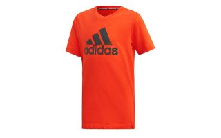 adidas CAMISETA BADGE OF SPORT MUST HAVES NARANJA GRIS NIÑO