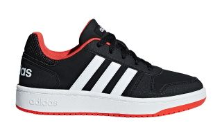 adidas HOOPS 2.0 BLACK WHITE BOY B76067