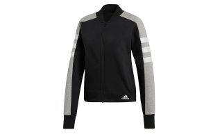 adidas CHAQUETA SPORT ID NEGRO GRIS MUJER