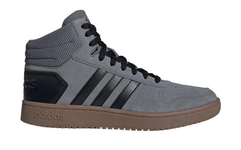 ADIDAS Hoops 2.0 Mid gris noir - commodité et douceur