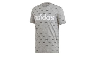 ADIDAS CAMISETA LINEAR GRAPHIC GRIS