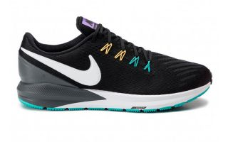Nike AIR ZOOM STRUCTURE 22 NEGRO BLANCO NIAA1636 008