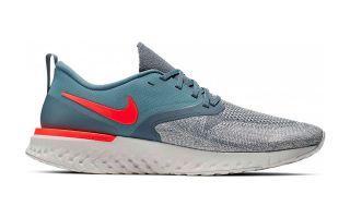 Nike ODYSSEY REACT FLYKNIT 2 SILVER BLUE RED