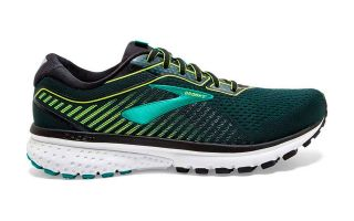 BROOKS GHOST 12 VERDE NEGRO 1103161B018
