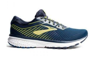 Brooks GHOST 12 BLEU JAUNE 1103161D469