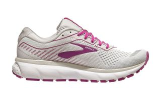 BROOKS GHOST 12 GRIS FUCSIA MUJER 1203051B186