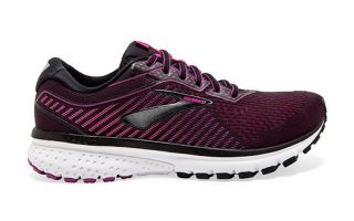 BROOKS GHOST 12 NEGRO ROSA MUJER 1203051D063