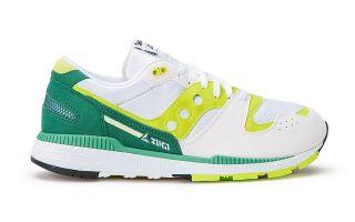 Saucony AZURA WHITE LIME GREEN S70437-16