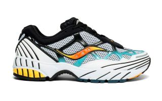 Saucony GRID WEB WHITE BLACK BLUE  S70466-1