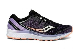 Saucony GUIDE ISO 2 BLACK LILAC PEACH S10464-37