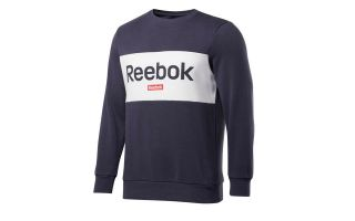 <center><b>Reebok</b><br > <em>SUDADERA TRAINING ESSENTIALS LINEAR LOGO AZUL BLANCO</em>